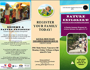 Nature Explorers, A family Summer Program for Children ages 2-12