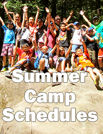 Summer Camp Schedules