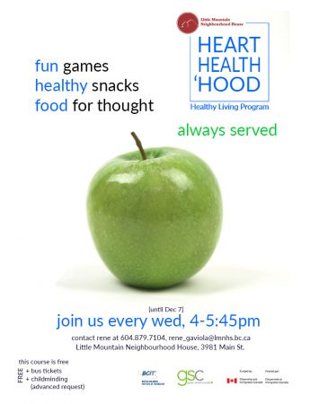 [Health, Heart, 'Hood Program] Join us every Wed, 4-5:45pm