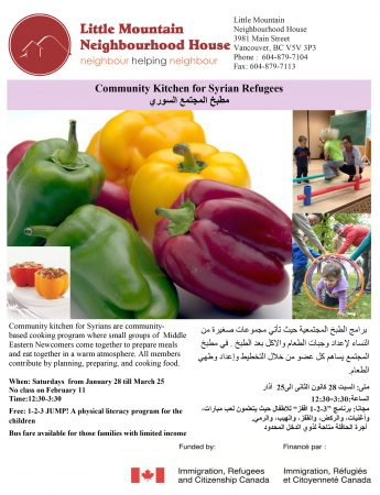 Community Kitchen for Syrian Refugees