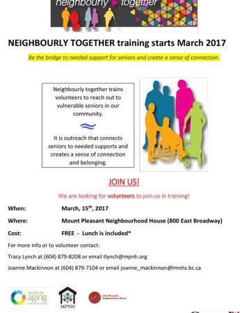 Neighbourly Together Training