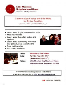 Conversation Circles and Life Skills for Syrian Families