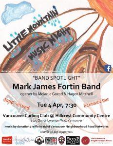 Music Night – Mark James Fortin Band