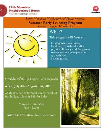Summer Early Learning Program