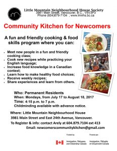 Community Kitchen for Newcomers